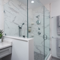 West Chester Master Bath - Custom Glass Enclosed Shower